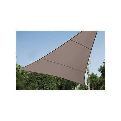 Voile Solaire Triangle Taupe 3,6 x 3,6 x 3,6 m