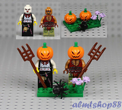 4x Halloween Minifigure Combo Zombie Witch Scarecrow Skeleton Horror LEGO