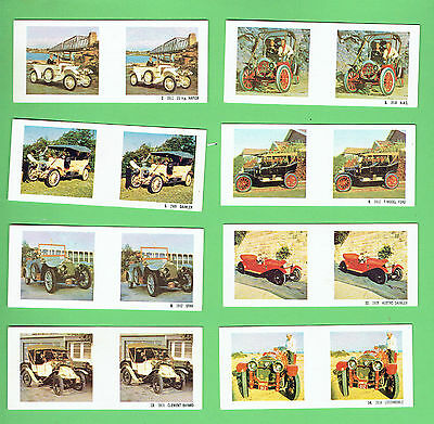 #d262.  Eight  1966  Sanitarium True-To-Life Stereo Veteran & Vintage Cars Cards