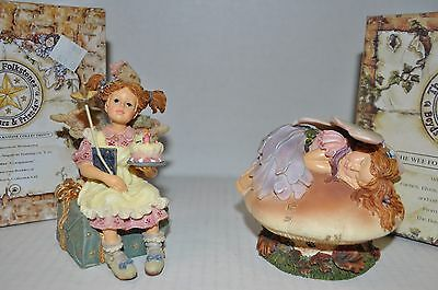 LOT OF 2 Boyds Bears Wee Folkstones Faeries FAERIEDREAMS #36107 WISHES #36108