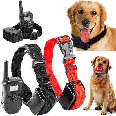 2017 Dog Training Shock Vibra Collar w/LCD Remote Control For S/M/L 1-2 Pet Dog