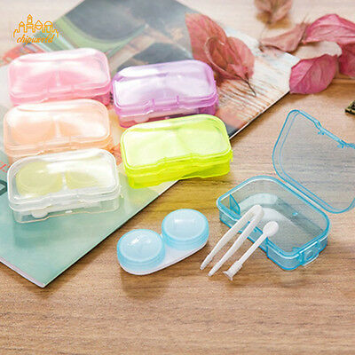 Cute Mini Contact Lens Case Travel Kit Lenses Eyewear Container Portable Package