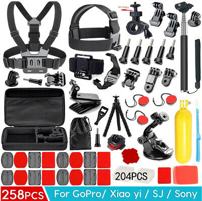 64PCS Pack Accessories Case Head Chest Monopod Surf Mount for GoPro Hero 4 3+ 3
