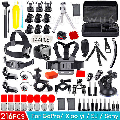 120Accessories Pack Head Chest Monopod Bike Surf Mount for GoPro Hero 5 4 3+ 3 2