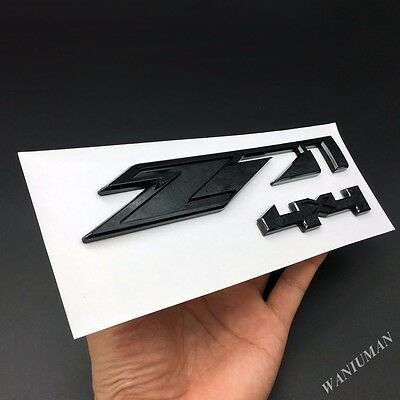 Black Z71 4x4 Emblem Badge Decal Sticker Fit Chevy Silverado Sierra SS Tahoe GMC