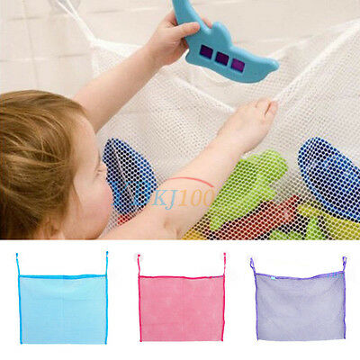 Washable Baby Kid Bath Toy Tidy Bag Net Mesh Collect Storage Suction Organiser
