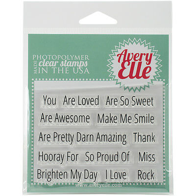 """Avery Elle Clear Stamp Set 4""""X3""""-Simply Said You"""