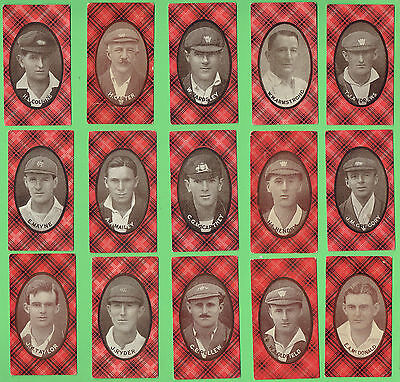 #S.  RARE  COMPLETE SET OF 1920-1921 McINTYRE AUSTRALIAN  CRICKET CARDS