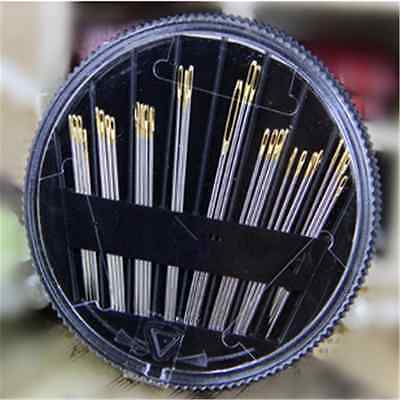 30PC Assorted Hand Sewing Needles Embroidery Mending Craft Quilt Sew Case FT42