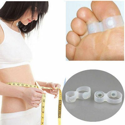 1 Pairs Magnetic Silicon Foot Massage Weight Loss Slimming Double Toe Rings