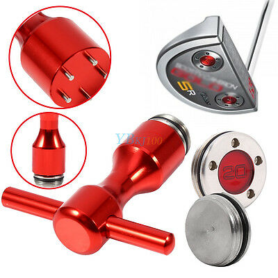 2pcs 5g-20g Red Golf Weights + Golf Spanner Tool for Scotty Cameron Putters