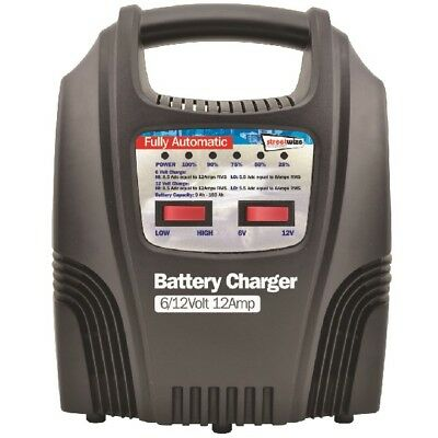 Streetwize SWBCLED12 12 Amp LED Fully Automatic Plastic Cased Battery Charger