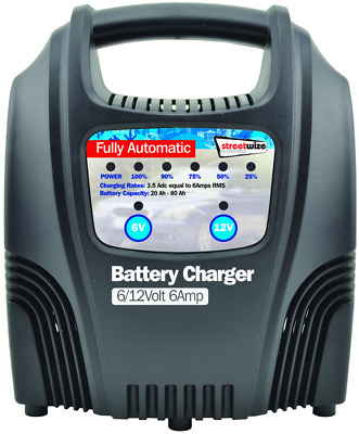 Streetwize SWBCLED6 6 Amp LED Fully Automatic Plastic Cased Battery Charger