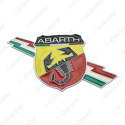 2 x New 3D Metal Decal Badge Emblem Sticker for Fiat Abarth Model Large