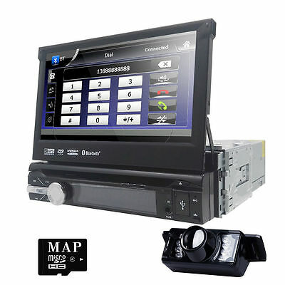 """7"""" Flip Out Touch Car Stereo DVD/USB/CD Player in Dash GPS NAVI Radio Bluetooth"""