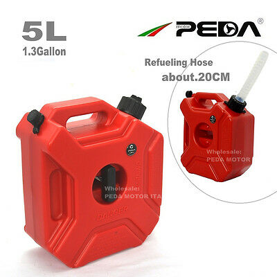 (AU)5L Portable Gasoline Diesel Fuel Tank Pack w/ Lock ATV Motorcycle Scooter