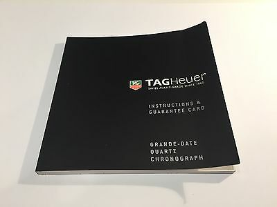 TAG HEUER - Instructions Manual - Grande Date Quartz Chronograph