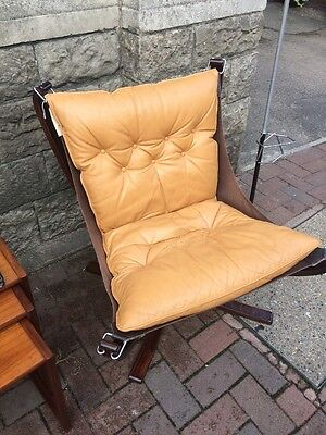 VINTAGE MID-CENTURY 1970s SIGURD RESSELL DESIGNED LOW BACK FALCON