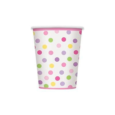 Unique 9-Ounce Pink Stork Baby Shower Paper Cups, 8Pk