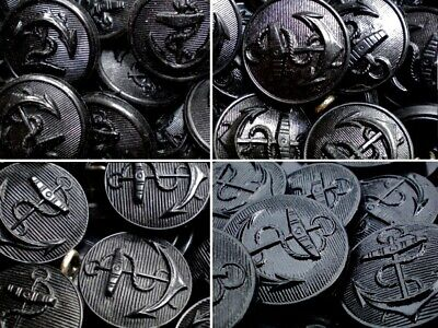 18mm 20mm 22mm 25mm Black Anchor Shank Suit Jacket Coat Craft Buttons (W255-258)