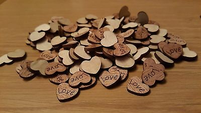 100 x Rustic Wooden Love Heart Wedding Table Scatter Confetti christmas Crafts