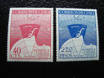 CHILI - timbre yvert et tellier  n° 215 216 n** (C5) stamp chile (A)