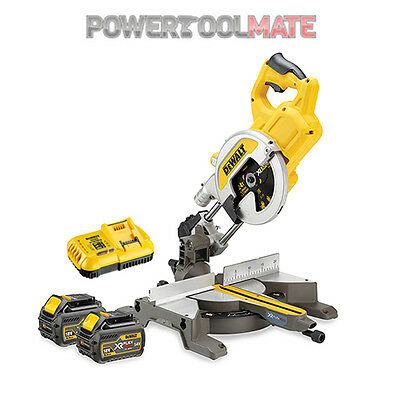 Dewalt DCS777T2 XR FlexVolt 54/18V Cordless Mitre Saw c/w 2 x 6.0Ah Batteries