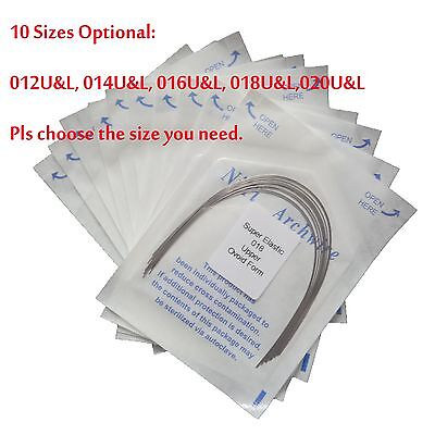 100 PCS Orthodontic Dental Super Elastic Ovoid Form Niti Round Arch Wires SALE