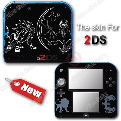 Pokemon Sun Moon Solgaleo Lunala Cool Skin Decal Sticker Cover for Nintendo 2DS