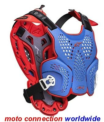 New Alpinestars A1 Roost Guard Body Armour Ltd Mx Of Nations Blue / Red