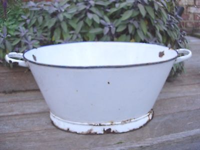 Vintage Enamel Bath Garden Planter / Drinks Cooler (1043)