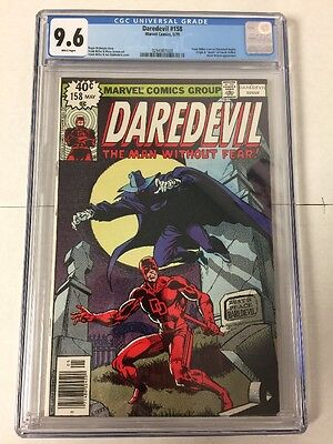 Daredevil 158 Cgc 9.6 White Pages Frank Miller Art Begins