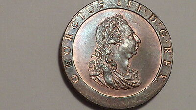 1797 Cartwheel Penny.George 111.UNC.High Lustre. British.Very Rare.REDUCED.#1869