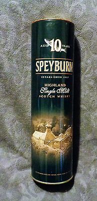 Speyburn Highland Single Malt Scotch Whisky Empty Tin