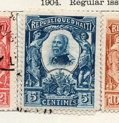 Haiti 1904 Early Issue Fine Mint Hinged 5c. 100915
