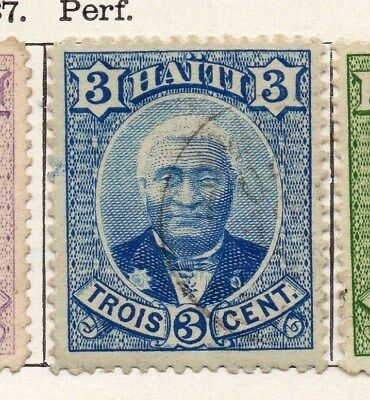 Haiti 1887 Early Issue Fine Used 3c. 100923