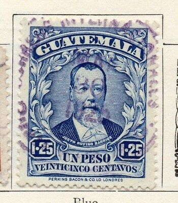 Guatemala 1925 Early Issue Fine Used 1.25P. 100940