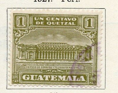 Guatemala 1927 Early Issue Fine Used 1c. 100949