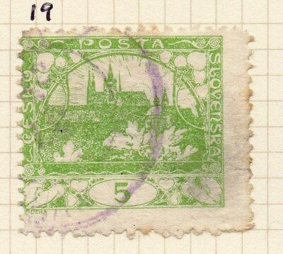 Czechoslovakia 1919 Early Issue Fine Used 5h. 100995