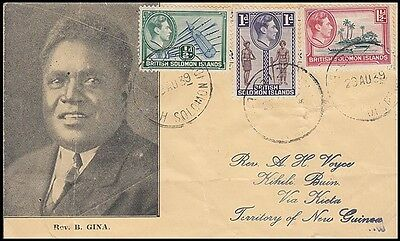 Solomon Islands 1939 Cover To New Guinea (Id:179/d42599)