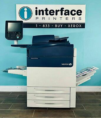 XEROX VERSANT 180 ONLY 3k COPIES WITH EXTERNAL FIERY FEEDER FINISHER STACKER