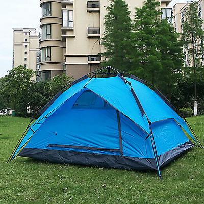 Instant Automatic Pop Up Backpacking Camping Hiking 3-4Persons Tent