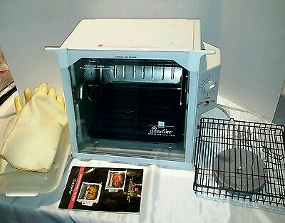 Ronco Showtime Rotisserie & BBQ Oven w All Parts & Extra Gloves w/o Kabob Rods