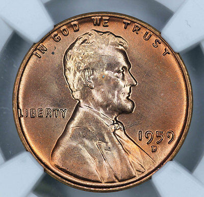1959-D NGC MS66RD Lincoln Cent