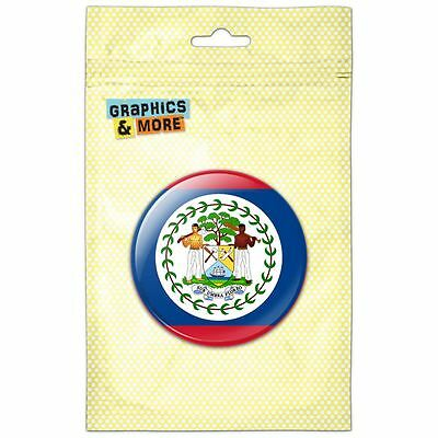 Belize National Country Flag Pinback Button Pin Badge