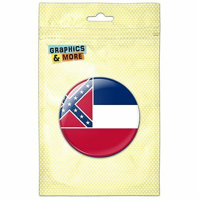 Mississippi State Flag Pinback Button Pin Badge
