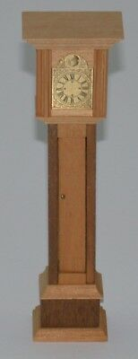 "Dollhouse Miniature Grandfather Clock ~ 7.25"" H x 1.5"" W x 1"" D"