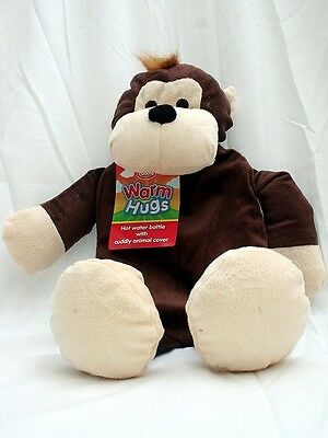 Z5876M 58769 MONKEY Hot Water Bottle With Animal Cover 0.8L