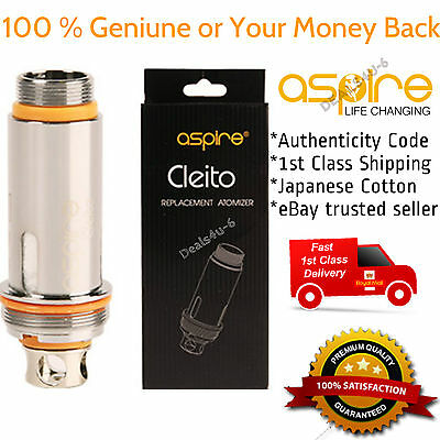 100 % Genuine ASPIRE Cleito Replacement Coils Heads 0.4/0.2 Ohm (Pack of 5)