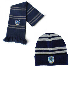 2pcs Harry Potter Ravenclaw House Scarf+ Beanie/Hat Wrap Soft Warm Costume Gift